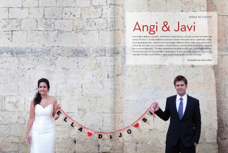 Nuestra boda en la revista Atelier Love.