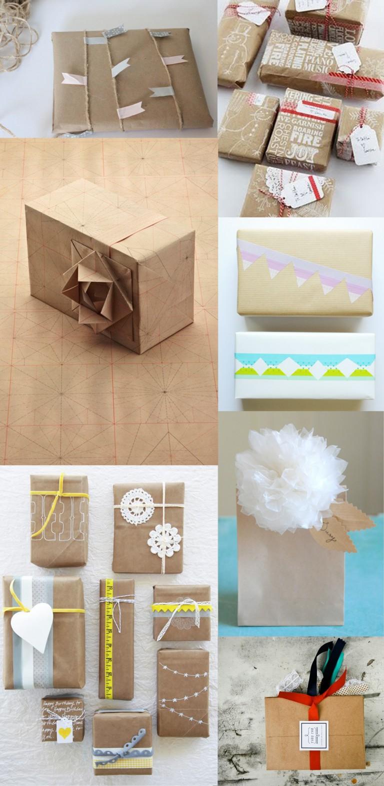 Primer concurso de envolver regalos con arte y con papel craft