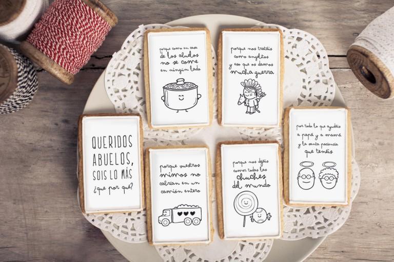 Queridos abuelos, sois lo más ¿que por qué?. Nueva colección de galletas para abuelos modernos.