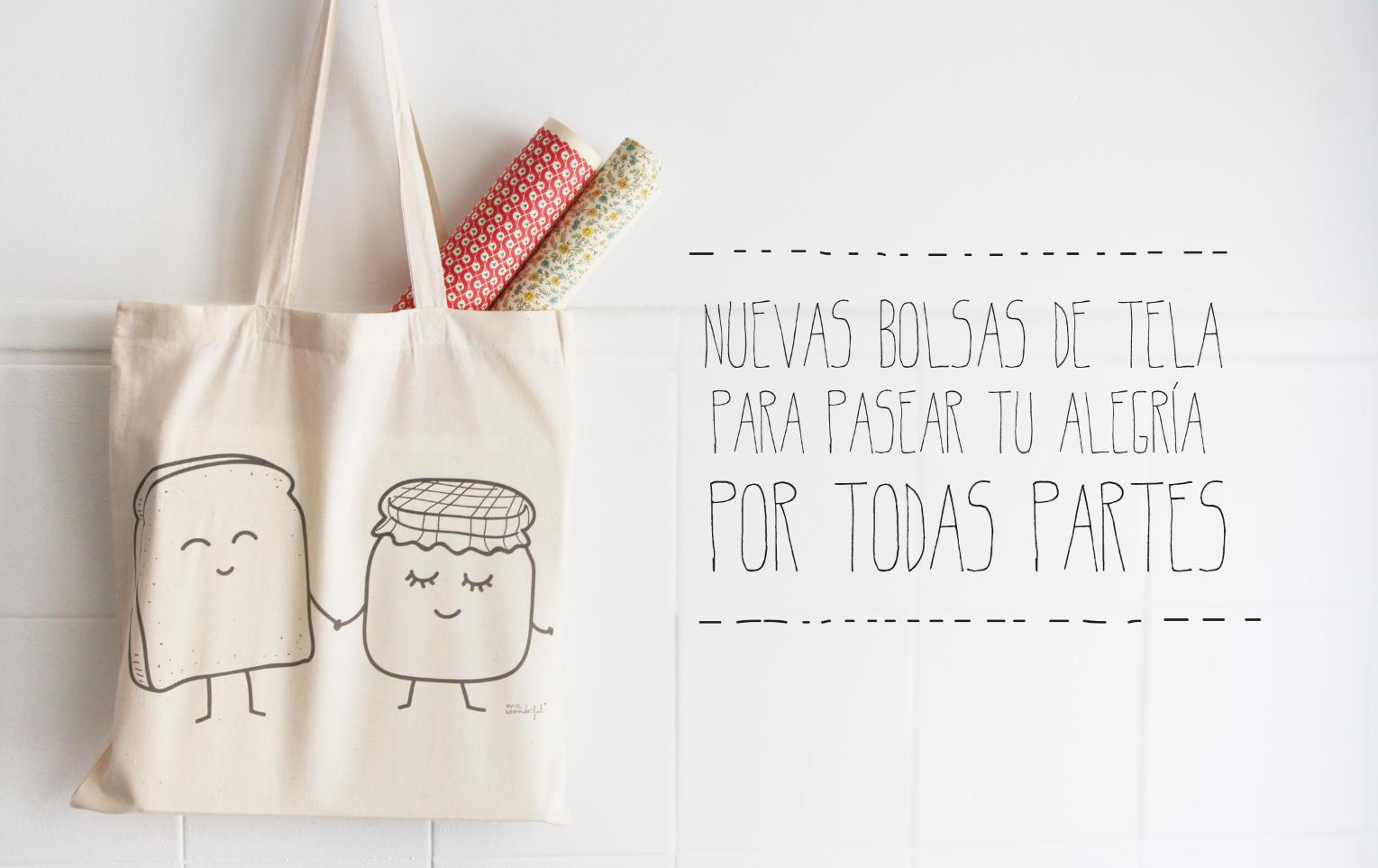 Nuevas Bolsas De Tela Tote Bags Para Moririse De Bonitas Y