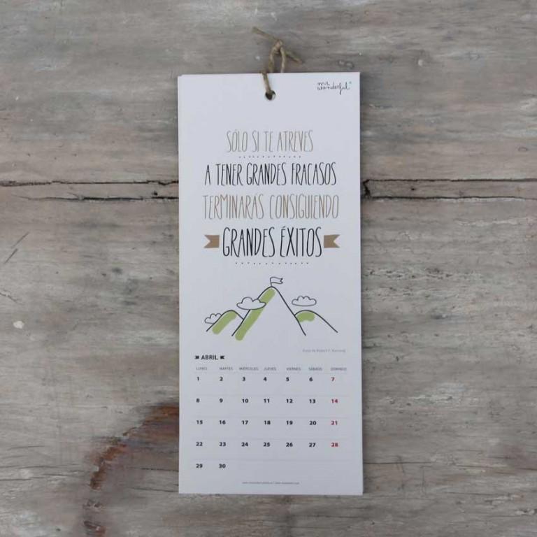 """Ya está aquí el calendario wonder """"2013 va a molar mucho"""""""