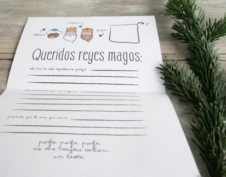 Carta a los Reyes Magos para descargar, por Mr.Wonderful