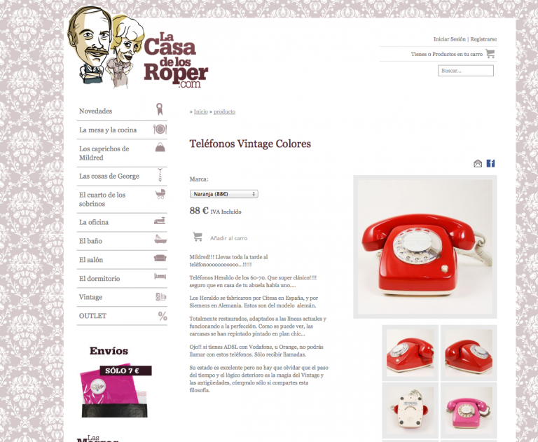 La Casa de los Roper mola. Llévate un teléfono retro por la cara.