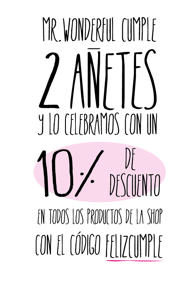 Mr. Wonderful cumple 2 añitos.