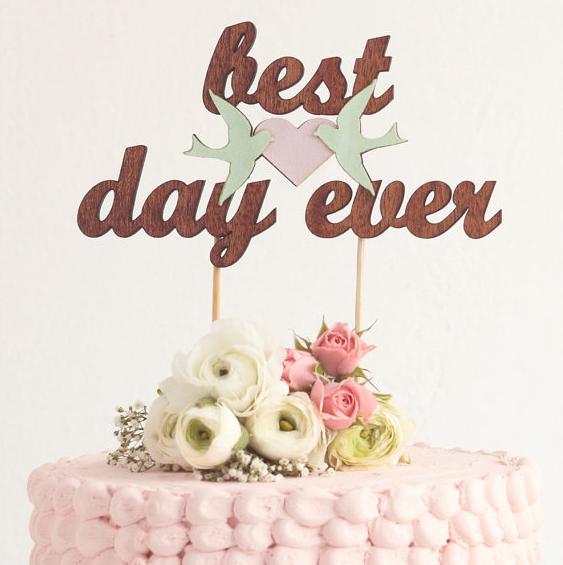 En busca del pastel de boda más bonico del mundo.