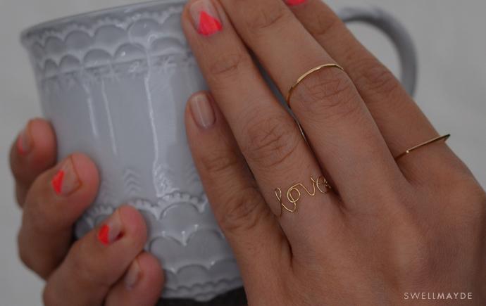 Una anillo con mucho amor