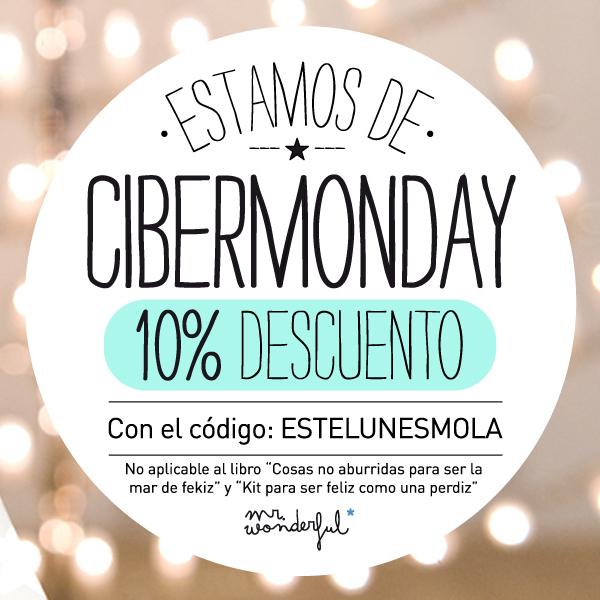 Este lunes sí que mola, Este lunes 10% de descuento en tooooda la shop.