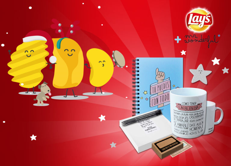 Felicita estas Navidades con los Christmas virtuales Mr.Wonderful+ Lay's