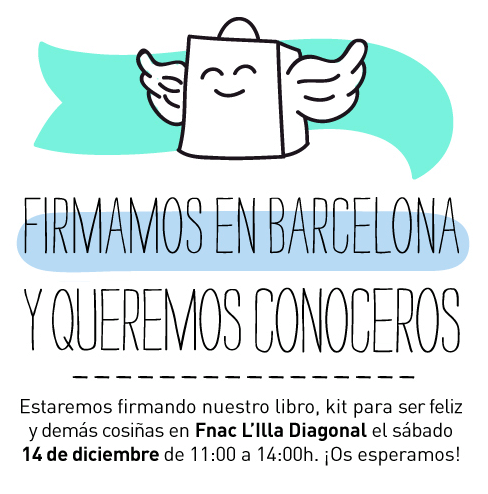 Hoy estaremos en Barcelona firmando nuestras cositas ¿te apuntas?