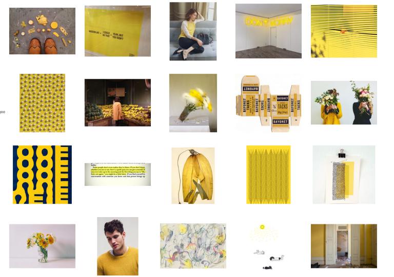 Veinte imágenes, un solo color