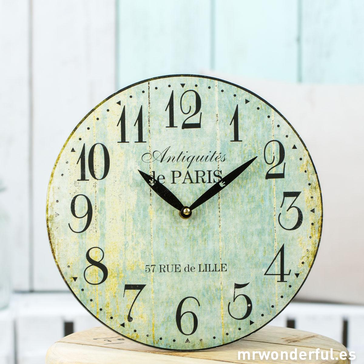 Mrwonderful_CL1097_2_Reloj-pared-efecto-madera-desgastada-verde-1