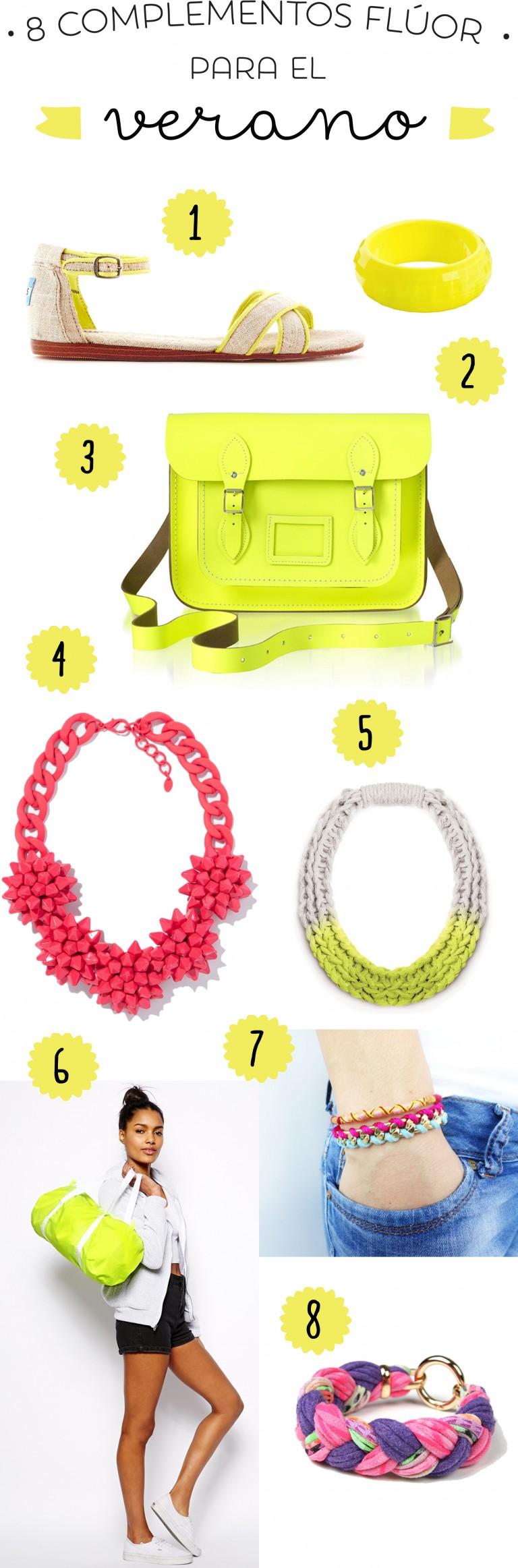 8 complementos flúor para dar color al verano