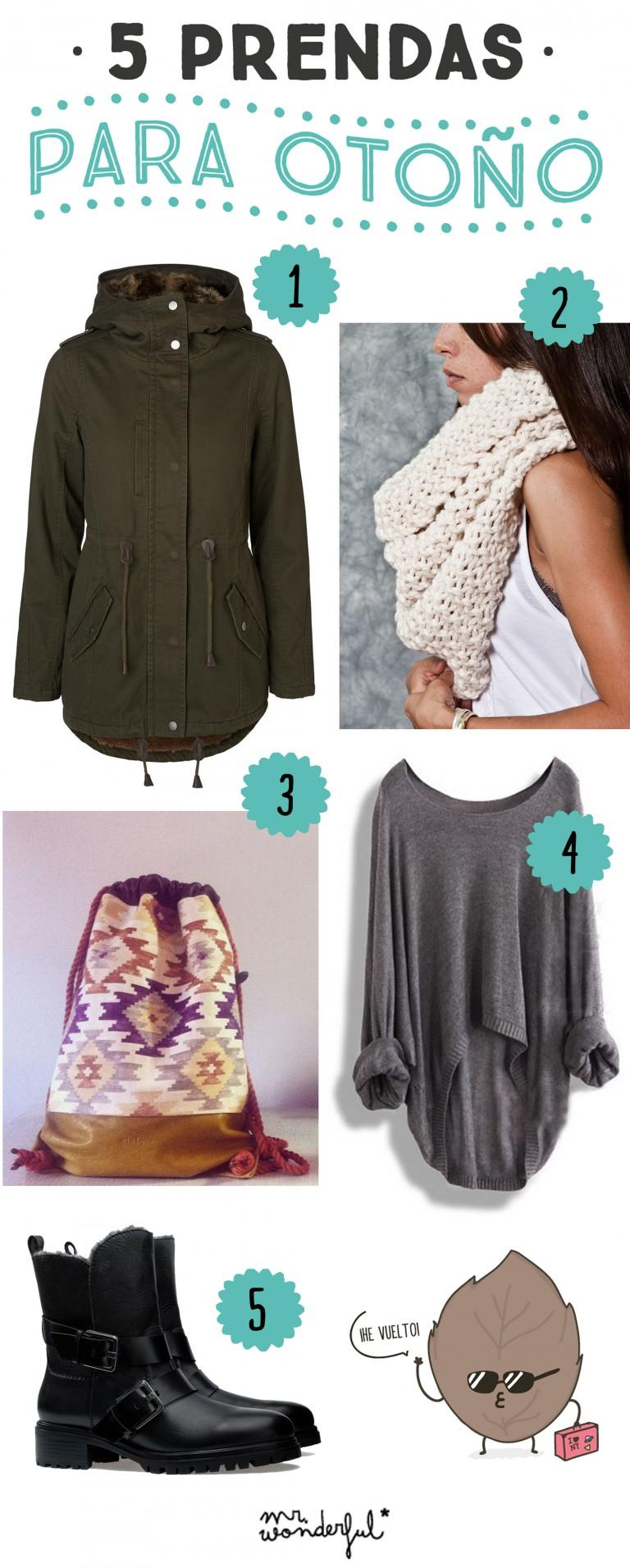 5 prendas para afrontar el frío otoñal