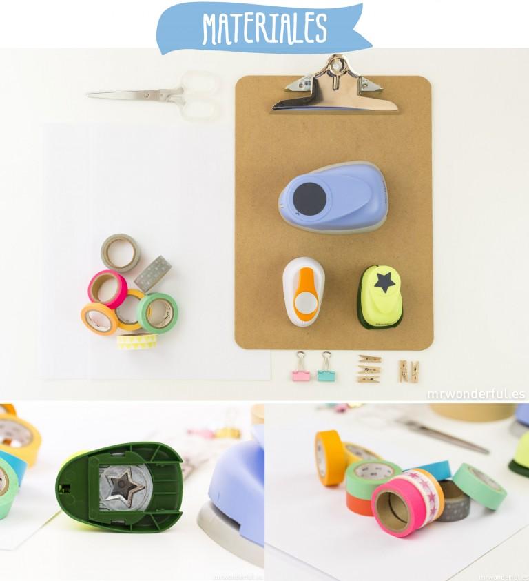 Tutorial – Cómo hacer formas de muchos colores y medidas con washitape