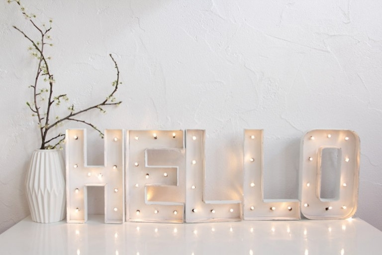 Cómo hacer unas letras luminosas en casa