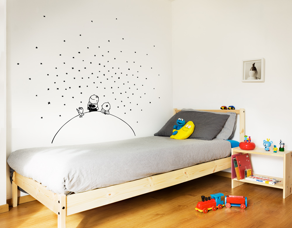 Vinilos bonitos para decorar la habitaci n de tu peque for Pared habitacion infantil
