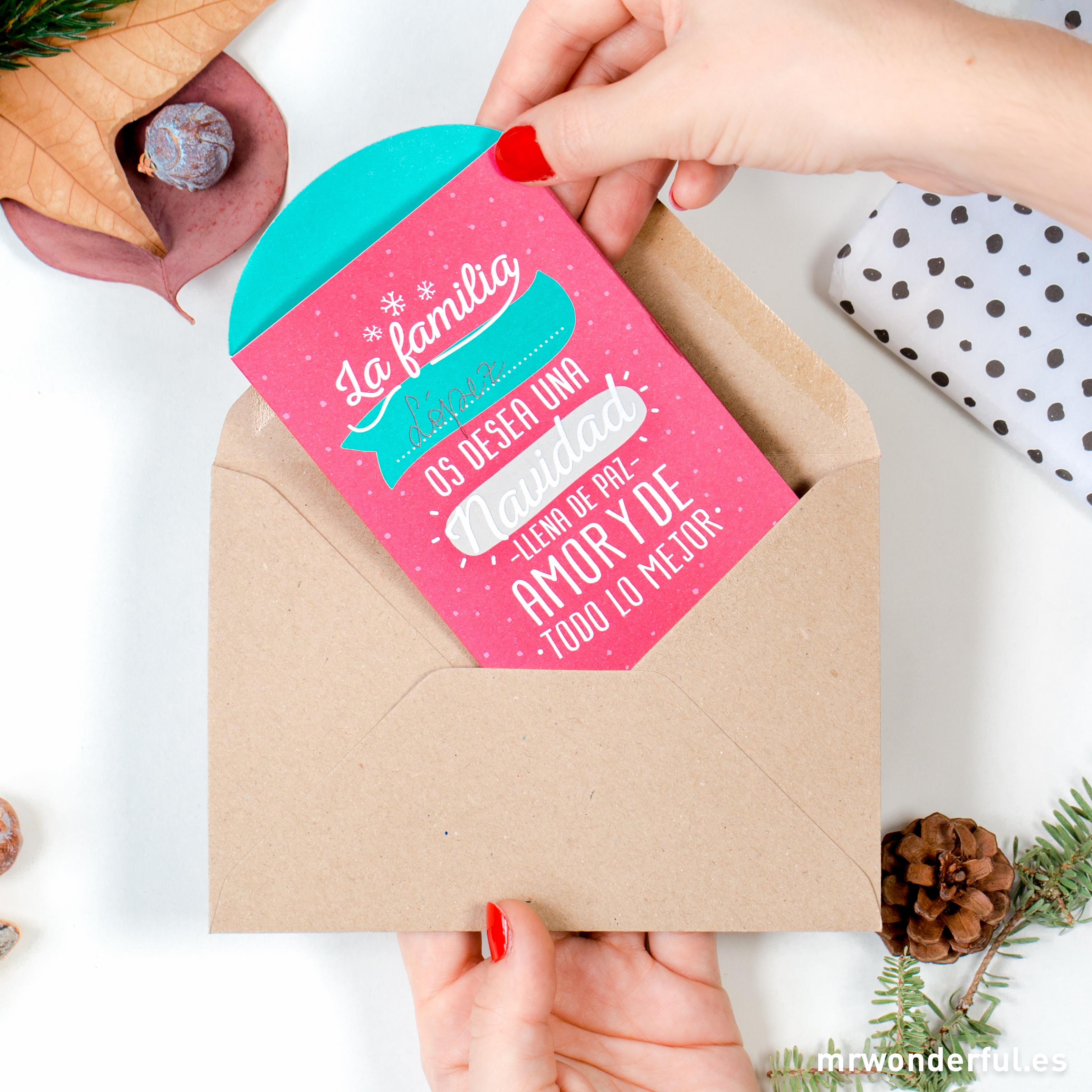 Mr.Wonderful tarjeta benéfica navidad 2015