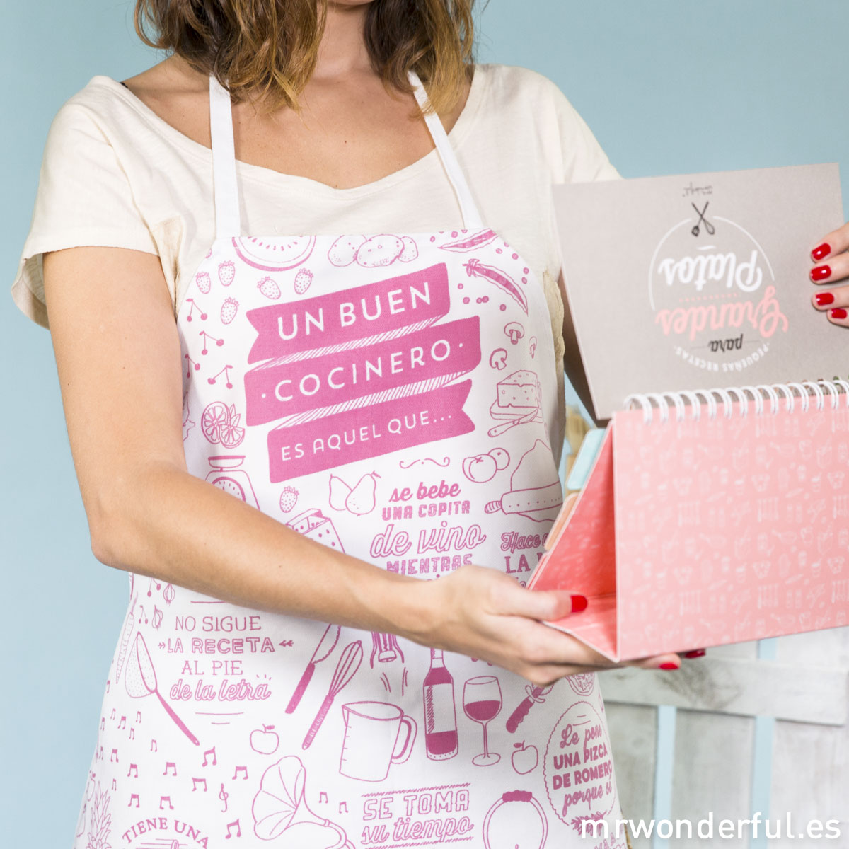 mrwonderful_8436547188277_DELANTAL01_Davantal-Adult-Cocinero-ROSA-107
