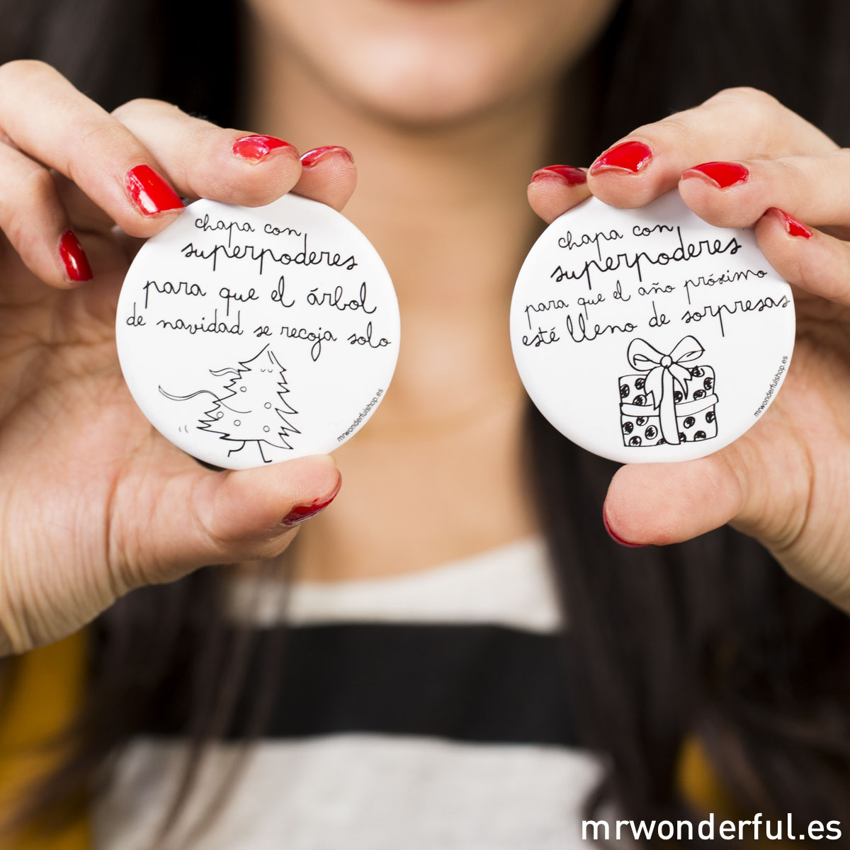 Mr.Wonderful: chapas con superpoderes para navidad