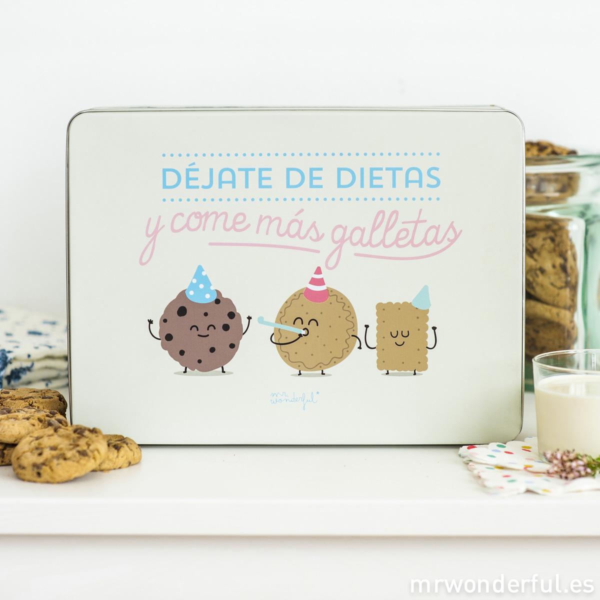 Caja metálica Mr.Wonderful- Déjate de dietas y come más galletas
