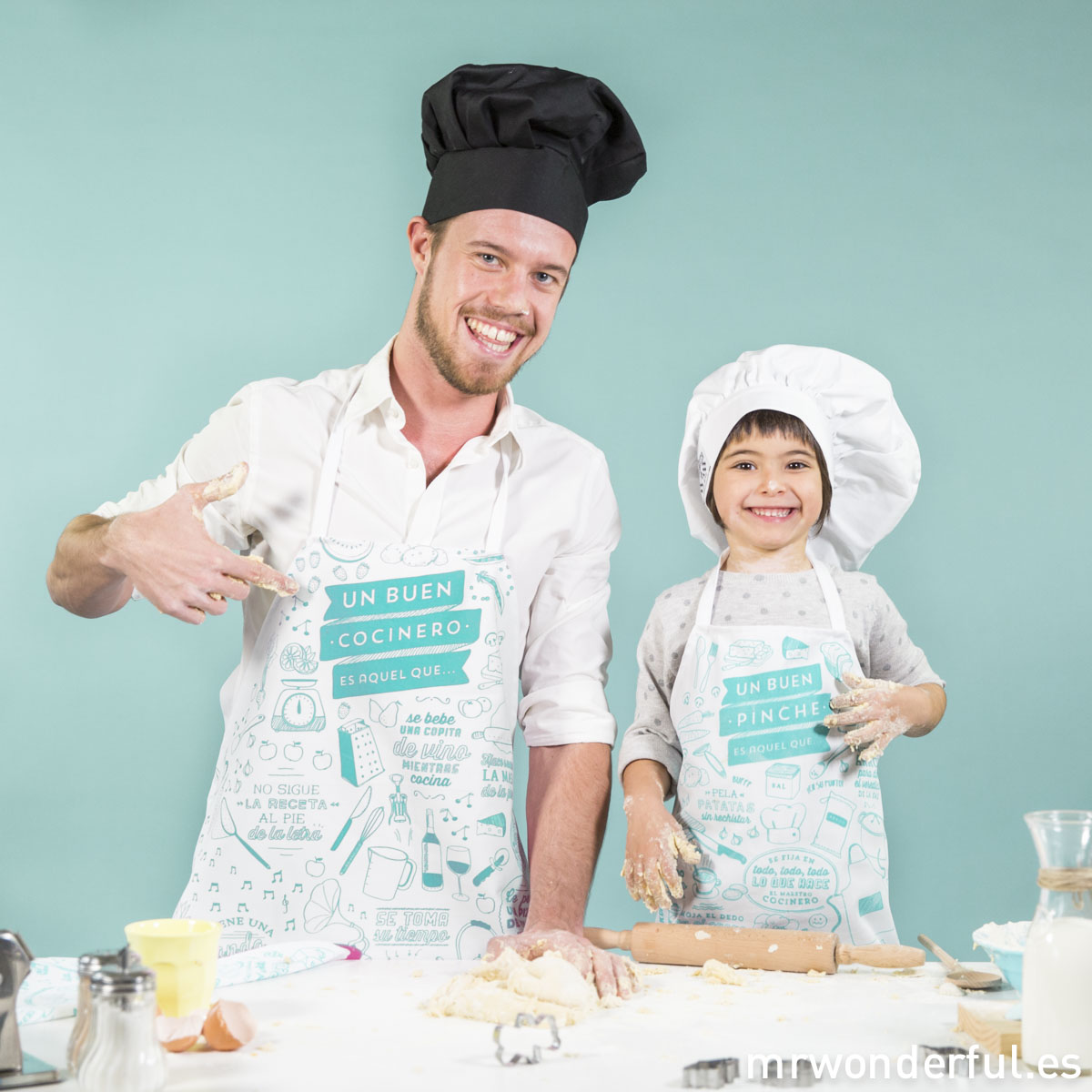 mrwonderful_DELANTAL01-DELANTAL03_Davantal-Adult-Cocinero-ROSA_Pinche-Verde-312-Editar