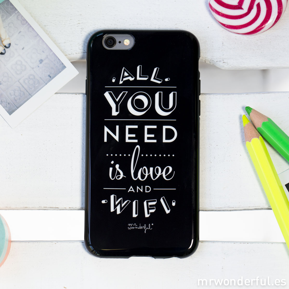 Mr.Wonderful funda iphone 6 plus - All you need is love and wifi