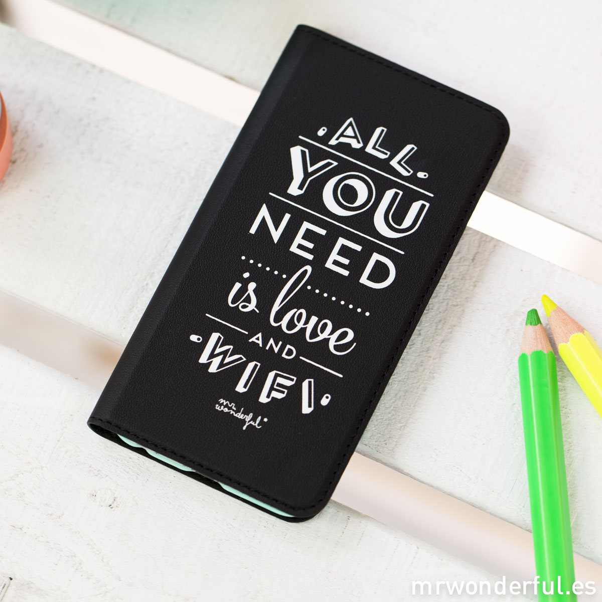 Mr.Wonderful: Funda libro iphone 6 Tú no necesitas filtros