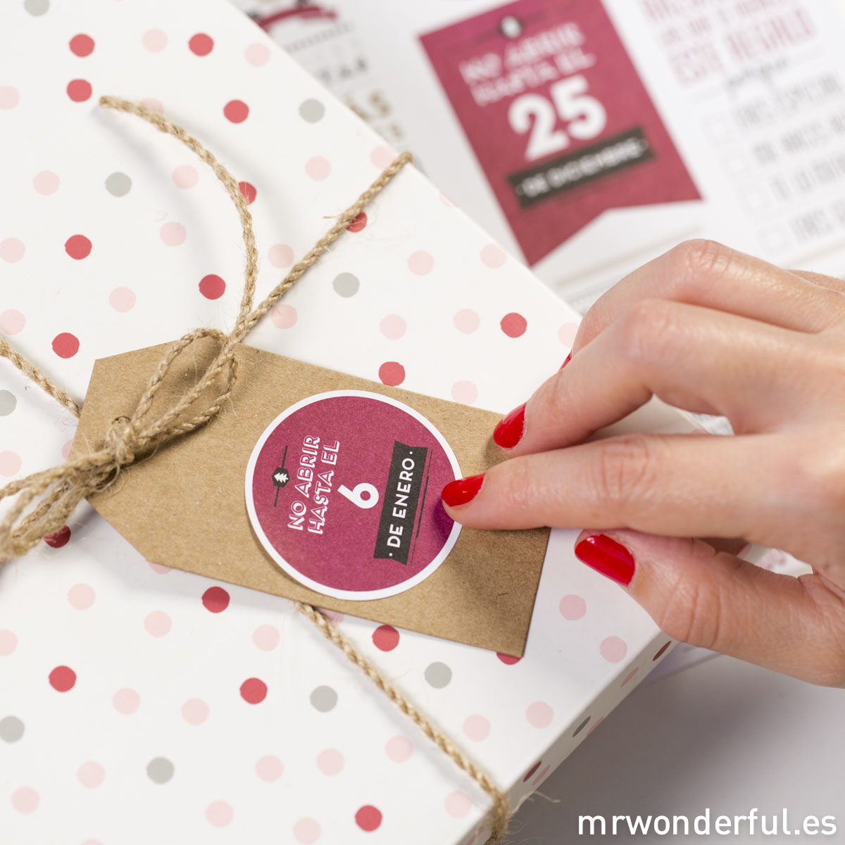 Mr.Wonderful: pegatinas navideñas