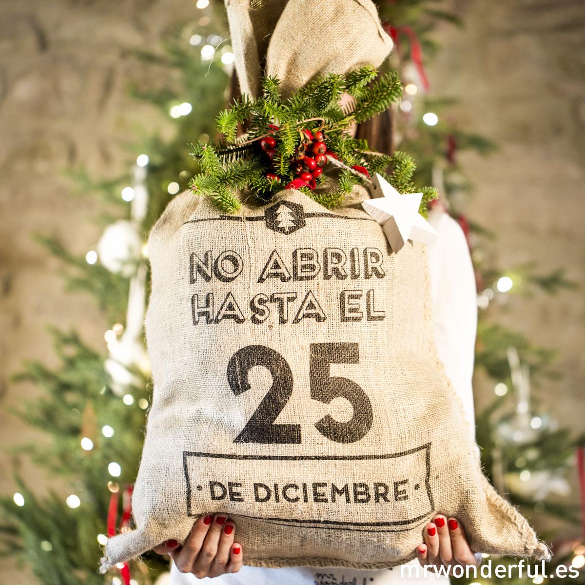 Saco Navidad Mr.Wonderful. No abrir hasta el 25 de diciembre.