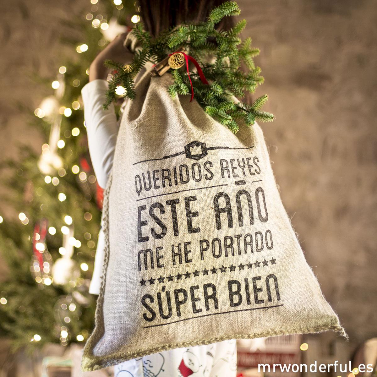 Saco Navidad Mr.Wonderful. Queridos reyes.