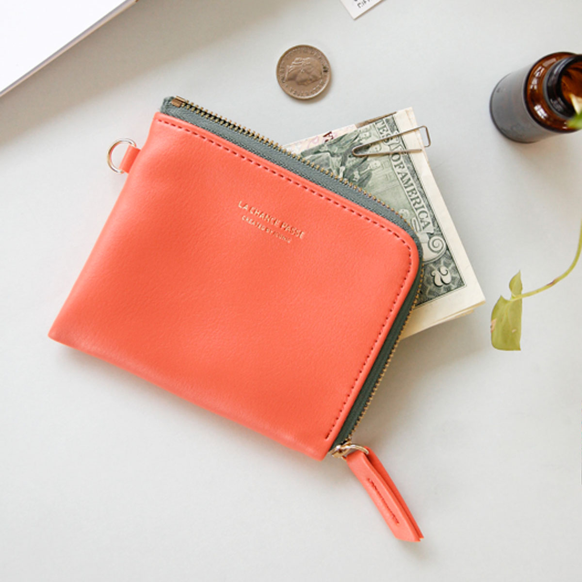 Monedero coral con bolsillo interior de Iconic - Mr.Wonderful