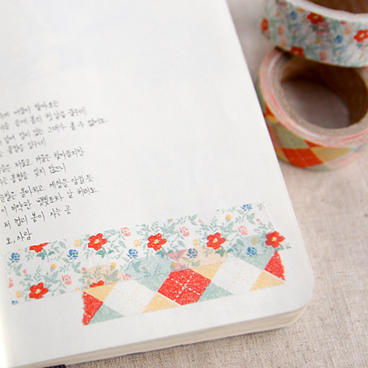 Washi tape rombos y flores de Iconic - Mr.Wonderful