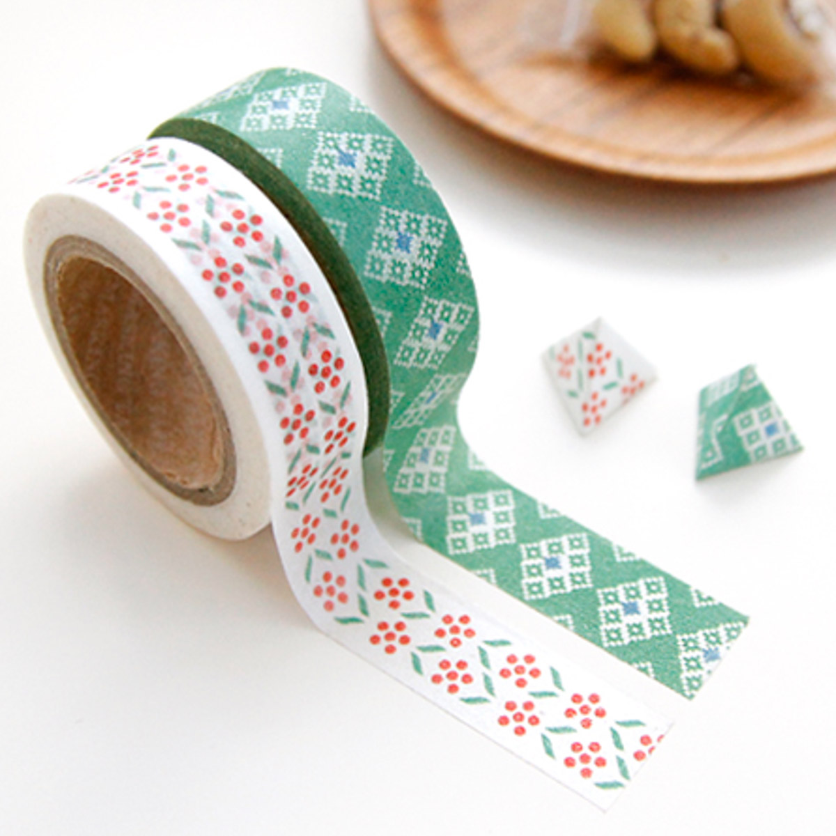 Washi tape verde y de flores de Iconic - Mr.Wonderful