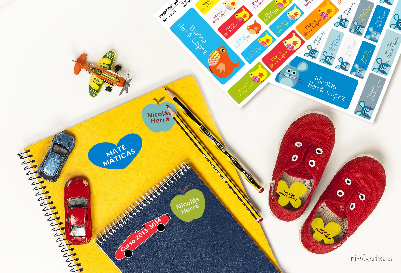 pegatinas para marcar cosas de los niños