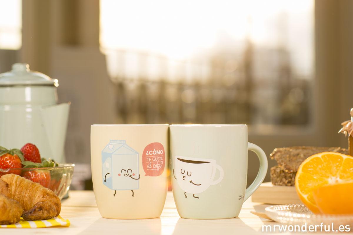 """Set de tazas """"¿Cómo te gusta el café? Contigo"""""""