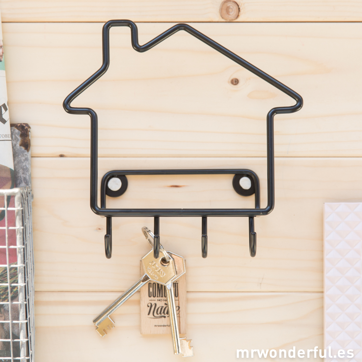 Colgador llaves forma casa Mr.Wonderful