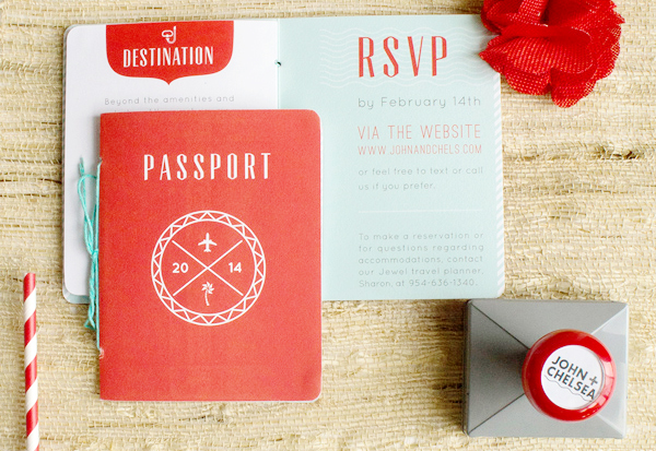 Red-Aqua-Passport-Destination-Wedding-Invitations-Two-if-by-Sea-Studios