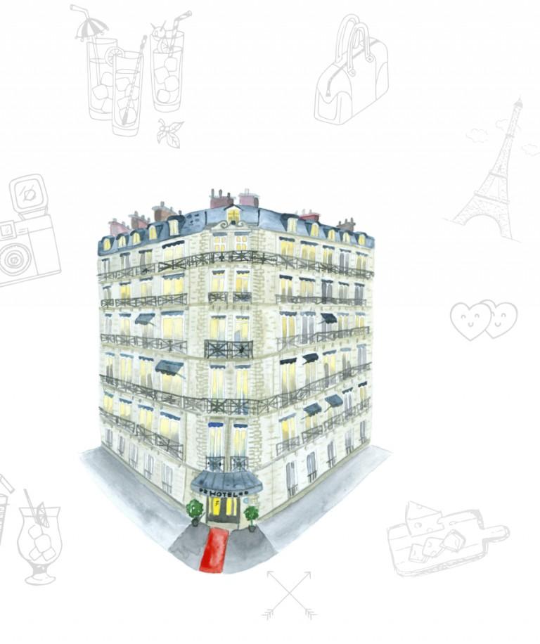 Esta no es una guía de París cualquiera, es una guía ilustrada