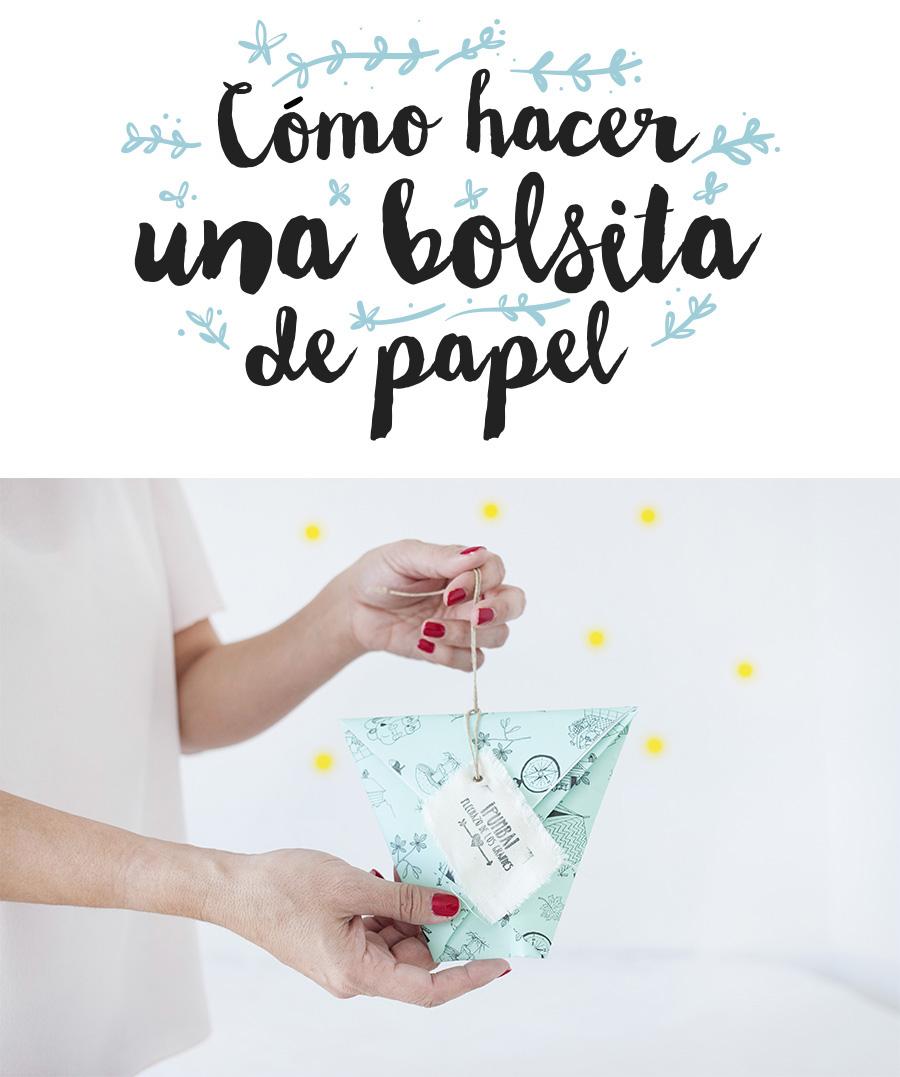 como hacer una bolsita de papel