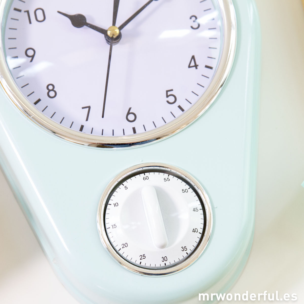 Mr.Wonderful reloj de cocina azul con temporizador