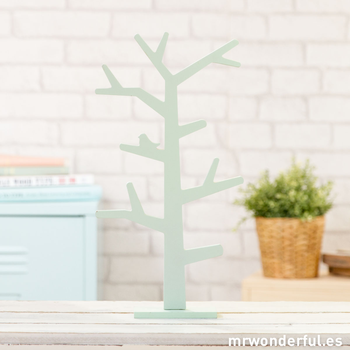 Mr.Wonderful árbol de madera mint para decorar