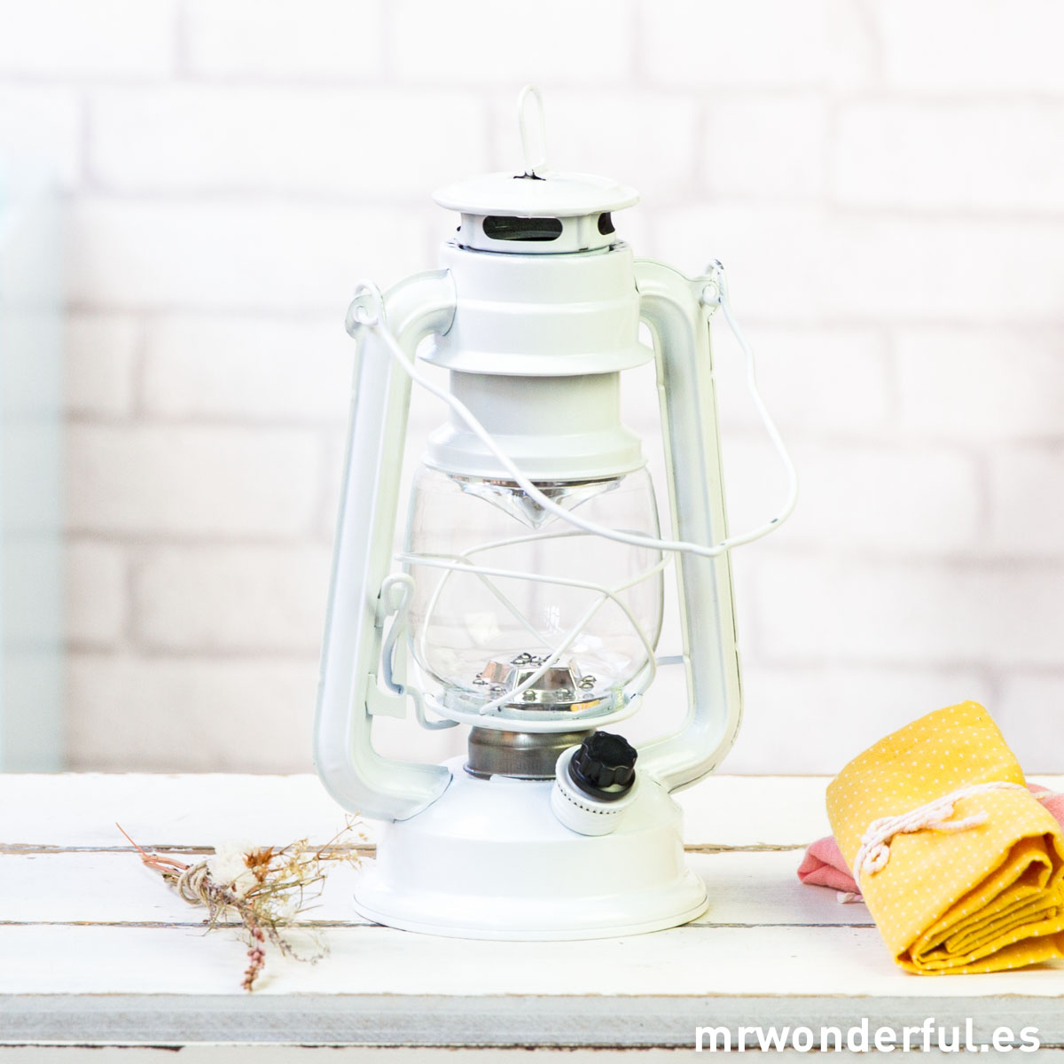 Mr.Wonderful Farol led blanco de estilo retro