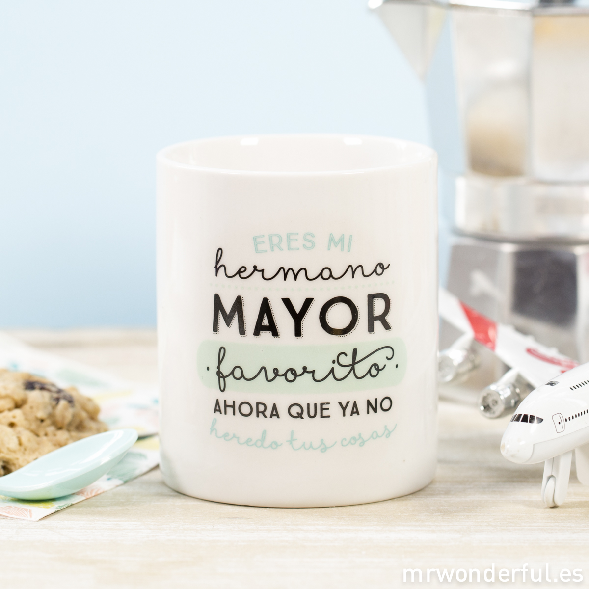 Mrwonderful 8436547188567 won 136 taza taza hermano mayor for Decoracion tazas mr wonderful