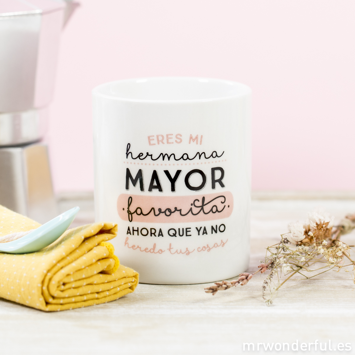 Mr.Wonderful taza hermana mayor
