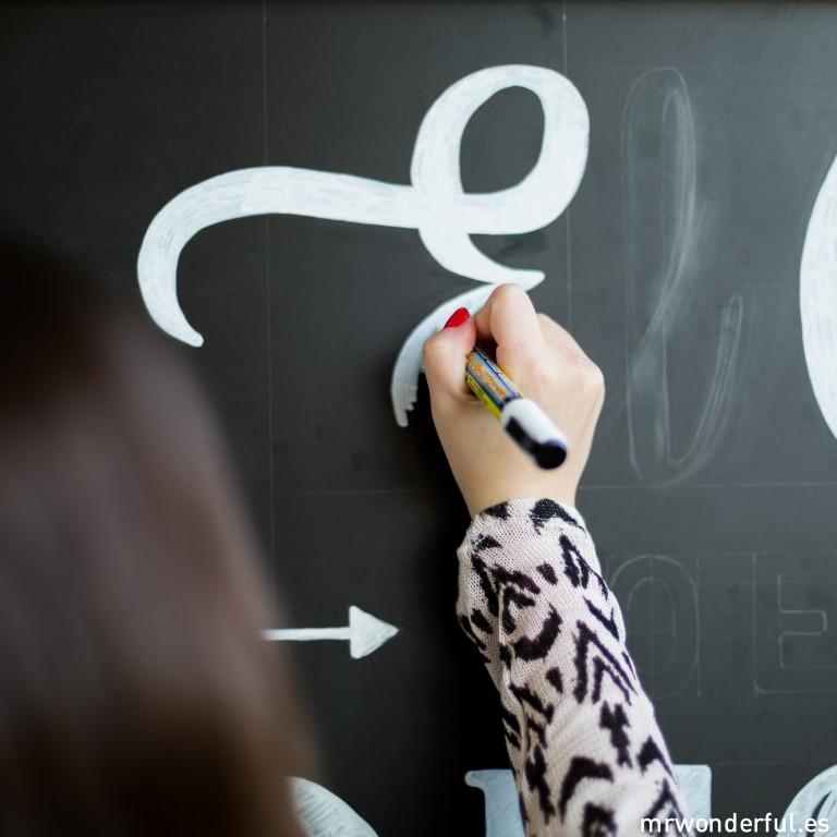 La pizarra con lettering más bonita del mundo está en el #estudiowonder
