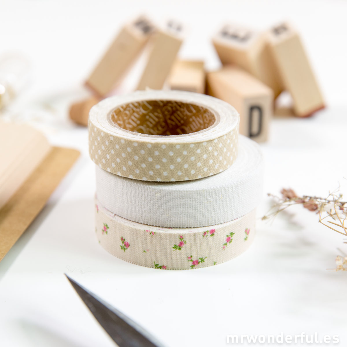 Mr.Wonderful washi tapes cream