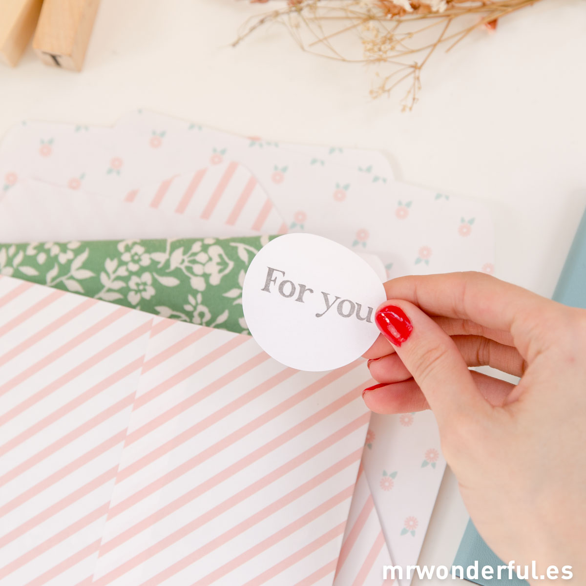 Mr.Wonderful bolsas de papel estampadas pink ribbon