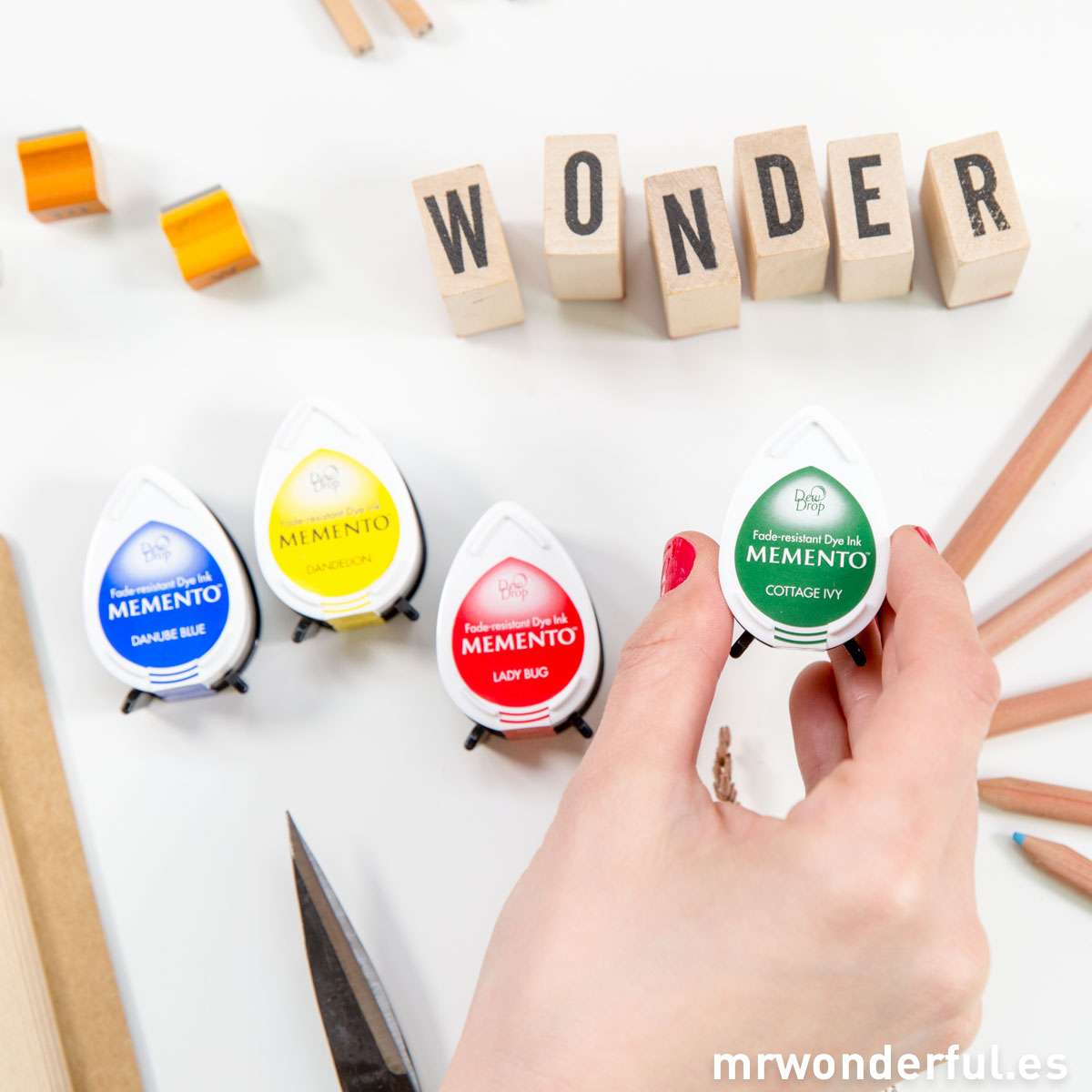Mr.Wonderful set de 4 mini tintas de colores