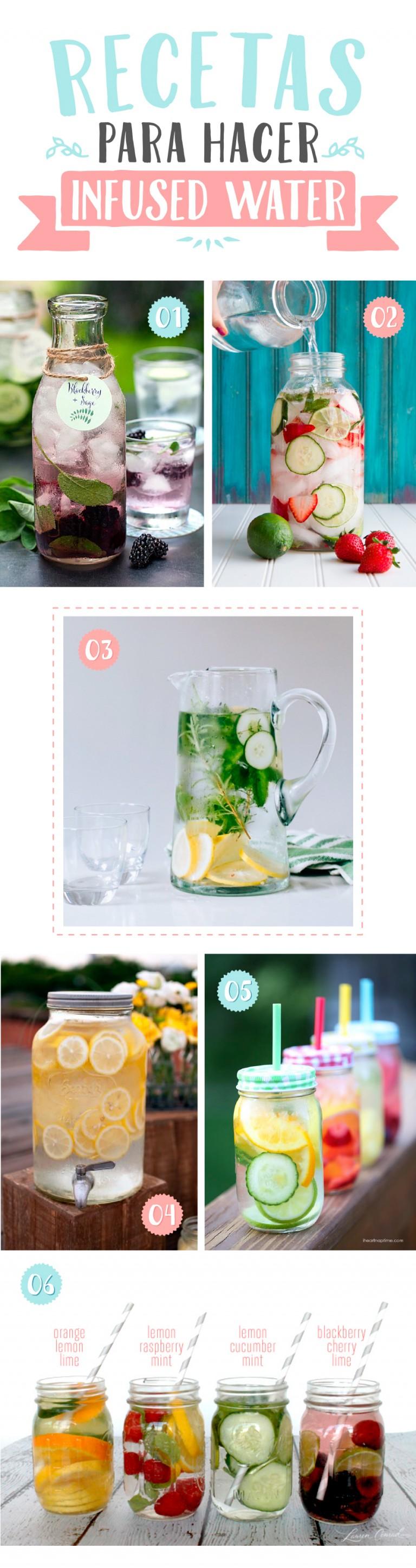 ¿Sabes cómo hacer infused water? Yo te lo cuento que llega el veranito y hay que beber mucho