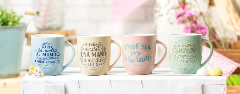 Tenemos nuevas tazas grandotas para los abuelos más enrollados. Y unas en color pastel para morir de amor